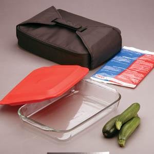 Pyrex Portable 5 piece black double decker set