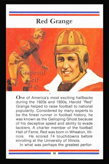 1981 True Value Hardware Red Grange Card