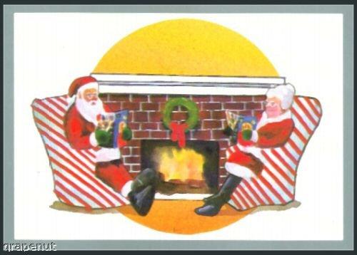'91 Tuff Stuff Santa Claus & Mrs Claus Card Rare!