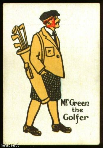 1920's Mr Green Happy Family Uncataloged Golf Card!