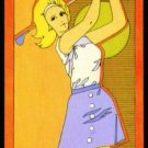 1970's Vintage Female Golfer Playing Swap Golf Card