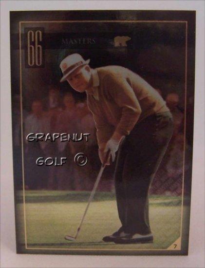 Jack Nicklaus 1966 Masters Golf Trading Card #7 Rare