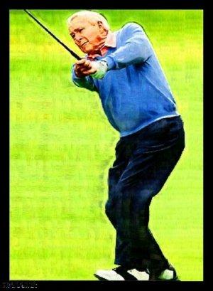 Arnold Palmer Bally Art Golf Legend Rare Card /18
