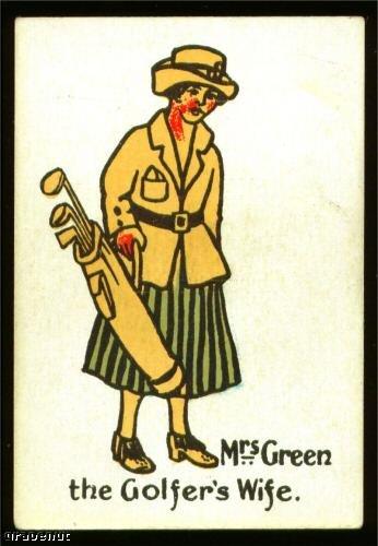 1920's Mrs Green Happy Family Uncataloged Golf Card!