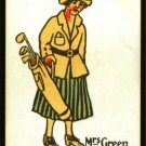 1920's Mrs Green Happy Family Uncataloged Golf Card!