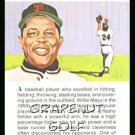 1981 True Value Hardware Willie Mays Card Rare!