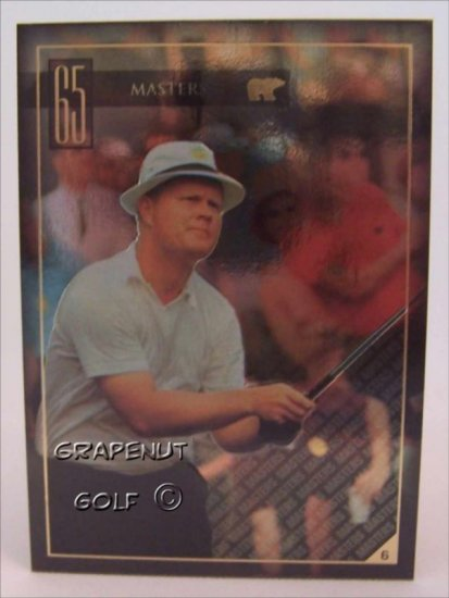 Jack Nicklaus 1965 Masters Golf Trading Card #6 Rare