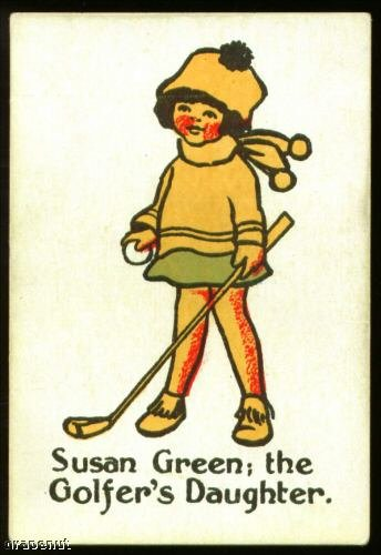 1920's Susan Green Happy Family Uncataloged Golf Card!