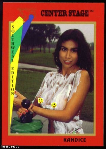 1992 Center Stage Naked Golf Card Kandice #40