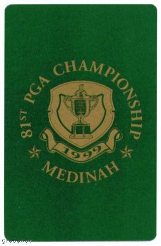 1999 PGA Champ Golf Playing Card Tiger Woods Medinah
