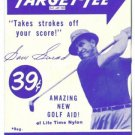 1951 Sam Snead Uncataloged Advertising Trade Golf Card