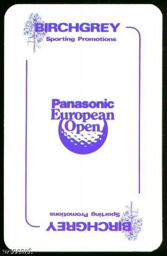 Panasonic European Open Playing Swap Golf Card