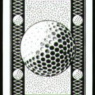 Vintage '80s Golf Ball Black Playing Swap Golf Card
