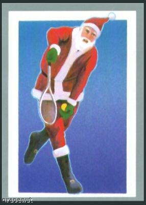 Tuff Stuff Santa Claus Christmas Tennis Sportscard Rare
