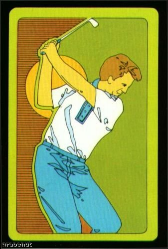 1970's Vintage Male Golfer Playing Swap Golf Card