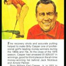 1981 True Value Hardware Billy Casper Golf Card Rare
