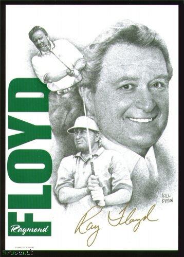 1996 Raymond Floyd Dotson Arts Uncataloged Golf Card