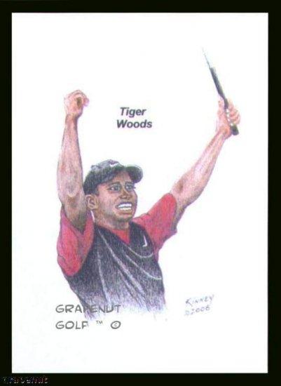 Tiger Woods #3 Kinney Original Art ACEO Golf Card NM