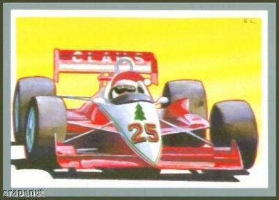 Tuff Stuff Santa Claus Christmas Racing Car Driver Card