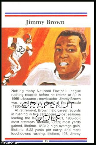 1981 True Value Hardware Jim Brown Card Rare!