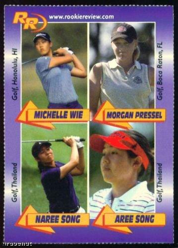 Michelle Wie Morgan Pressel Rookie Sexy Golf Girl Card