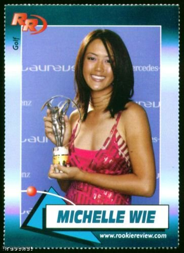 Michelle Wie 2004 Rookie Review Golf Card #96 Hot!