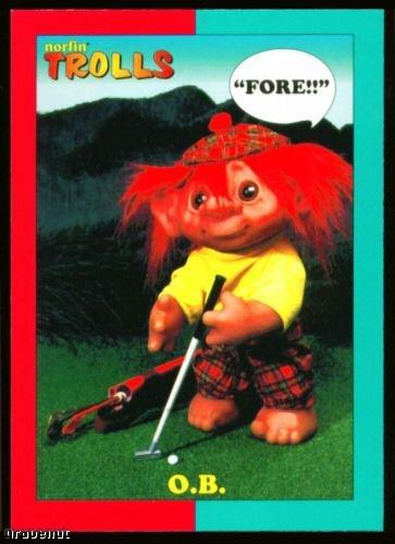 1993 Norfin Troll Golf Card Series 1 #19 O.B.