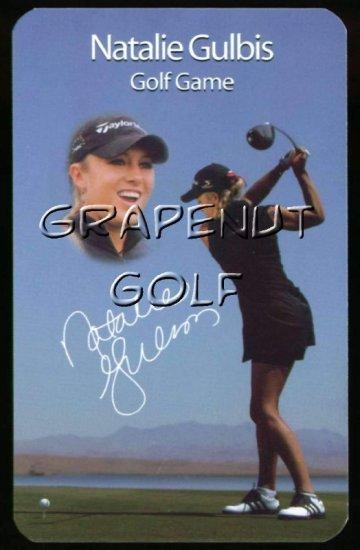 Natalie Gulbis LPGA Sexy Golf Game Action Card Hot Girl