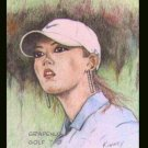 Michelle Wie #4 Kinney Original Art ACEO Golf Card NM
