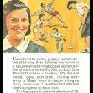 1981 True Value Babe Zaharias Didriksen Golf Card
