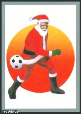 Tuff Stuff Santa Claus Christmas Soccer Card Rare!