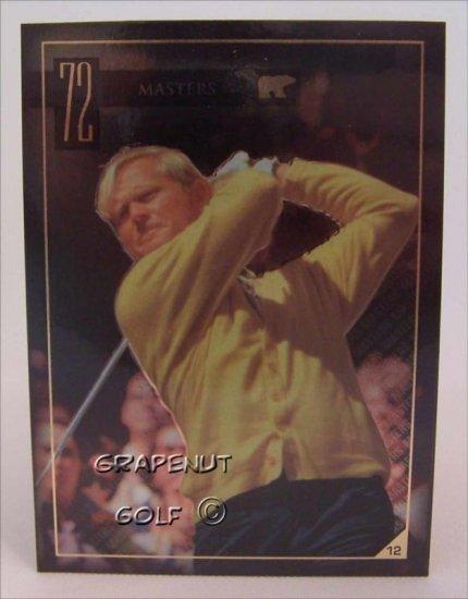 Jack Nicklaus 1972 Masters Golf Trading Card #12 Rare