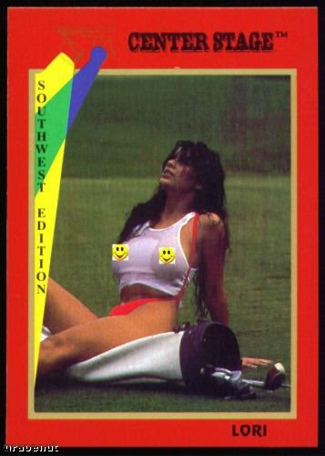 1992 Center Stage Naked Golf Card Lori #35