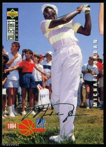 94 UD Collectors Choice Michael Jordan SILVER Golf Card