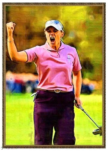 Annika Sorenstam Bally Golf Card Portrait Rare /18