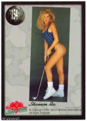 1994 Benchwarmers Shannon Rae Sexy Golf Girl Card 154