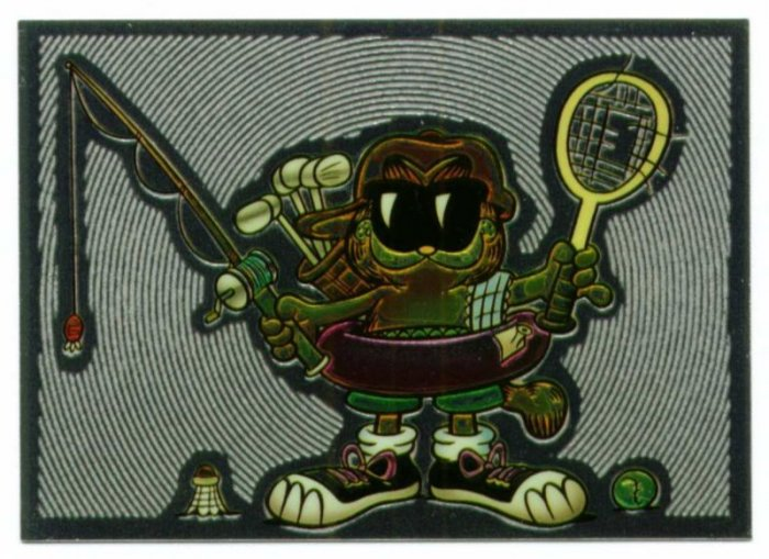 1995 Garfield Chromium Insert Golf Card Glow 3 Rare