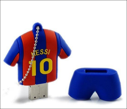 6037f037a Messi Shirt Soccer FC Barcelona Football 16GB USB Flash Drive Memory Stick