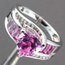 Pink Sapphire & Diamond 10K Gold Ring