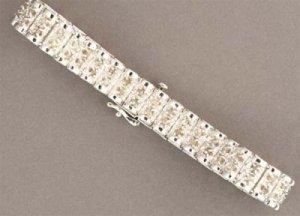 3 ctw. Diamond Sterling Silver Bracelet