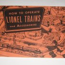 Vintage How to Operate Lionel Trains and Accessories Booklet/Manual