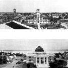 Two Panoramic Photos of Calcasieu Parish Court House & City Hall 1923 Lake Charles, LA