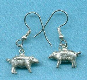 Handcrafted Pig Earrings