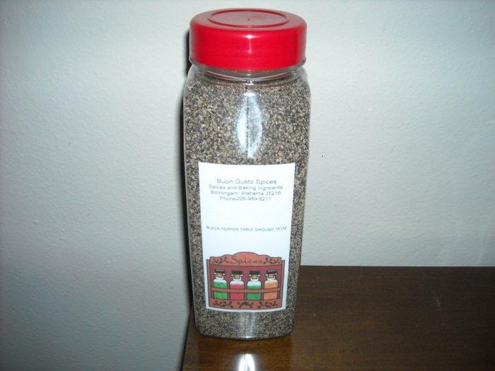 black pepper table ground 16 oz jar  $11.99--spices seasonings & herbs
