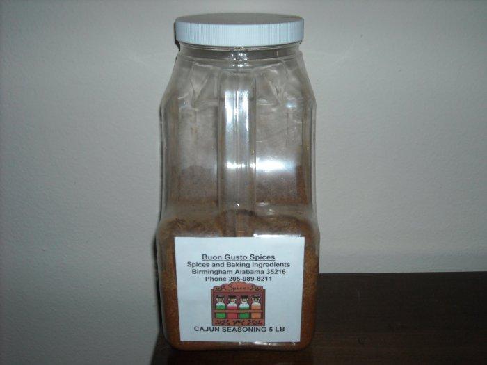 cajun seasonings 5 lb jar  $20.00--spices seasonings & herbs