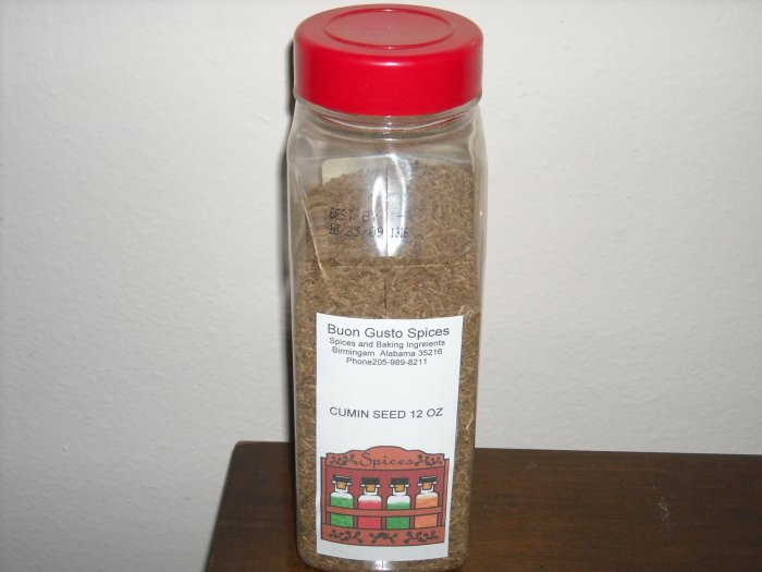 cumin seed whole 12 oz jar  $11.99--spices seasonings & herbs
