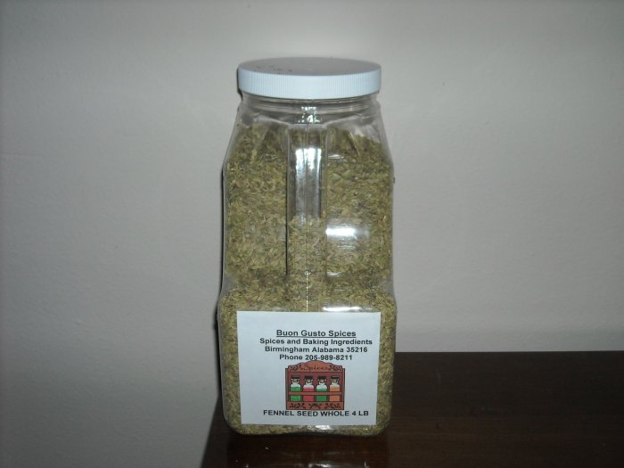 fennel seed whole 4 lb jar  $13.95