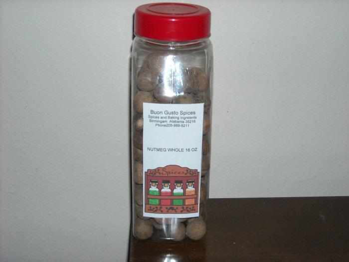 nutmeg whole16 oz jar  $19.99--spices seasonings & herbs
