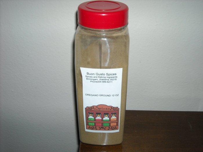 oregano ground 12 oz jar  $11.99--spices seasonings & herbs