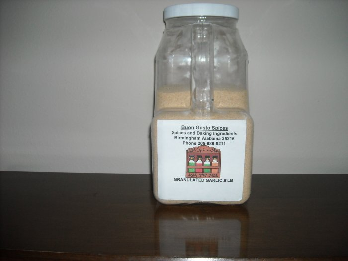 garlic granulated 5 lb  $25.37--spices seasonings & herbs